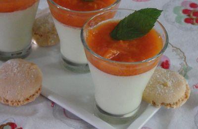 Panna cotta pistache et compotée d'abricots à l'Amaretto - recette autour d'un ingrédient #30