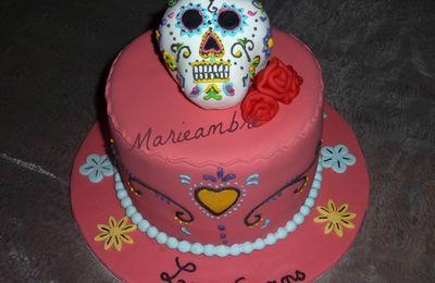 gâteau tête de mort mexicaine