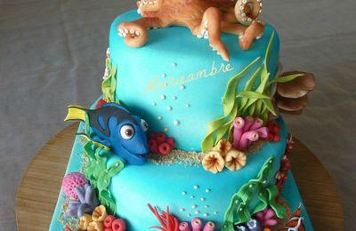 """Gâteau """"le monde de Dory"""" avec Hank la pieuvre"""