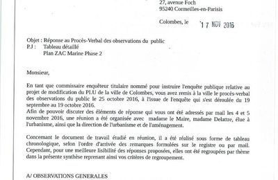 modification n°3 du PLU: conclusions du commissaire-enqueteur
