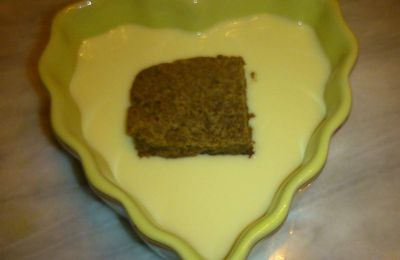 "Crème anglaise ""allégée"""