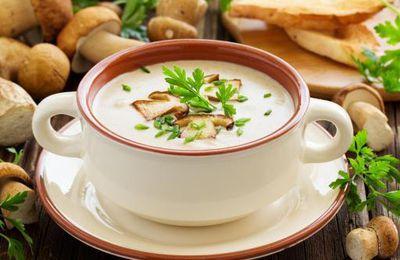 Soupe aux champignons aux thermomix