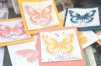 Des cartes d anniversaire avec le lot watercolor wings