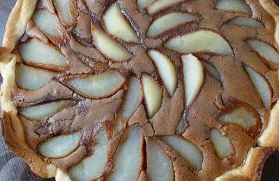 Tarte archi-gourmande aux poires et chocolat caramel