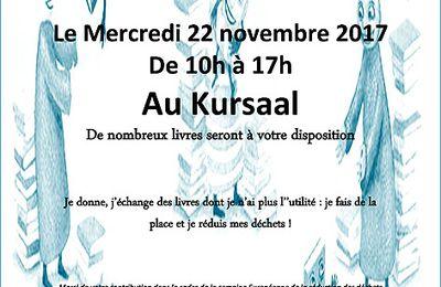 """VIVE LE MOT'ART , AVEC UN  """" TROC LIVRES """"...LE 22 NOVEMBRE AU KURSAAL"""