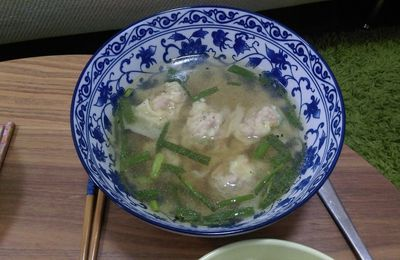 Wonton soup Camille made