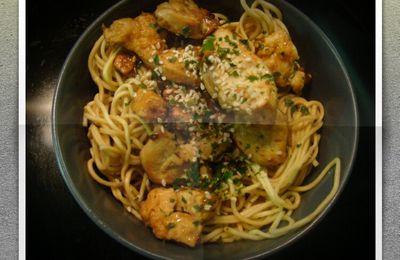 Les Nouilles Poulet Curry/Tomates/Coco de MlleFat