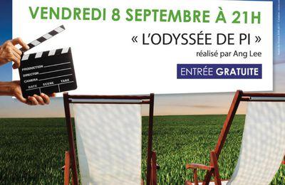 """Cinéma en plein air """"L'odyssée de Pi"""" vendredi 8 septembre 2017 à 21 heures"""