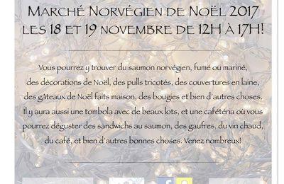 Le marché de Noel norvégien, ce week-end samedi 18 et dimanche 19 novembre 2017