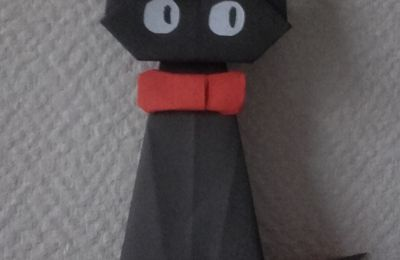 Origami chat noir