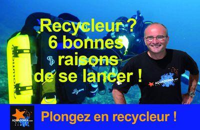 Recycleur de plongée, dossier complet : 6 bonnes raisons, 8 avantages, c'est le moment de vous lancer, dès le niveau 1 !