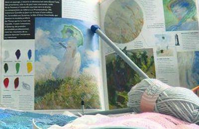 Un tableau de Monet tout en tricot !