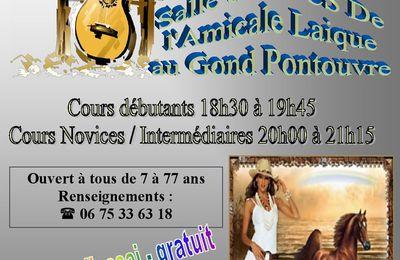 Cours de Country Au Gond Pontouvre Animés par Sylvaine - Saison 2017-2018 - Reprise des Cours le jeudi 21/09/2017