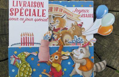 """Carte double Z """"Amis d'anniversaire"""""""