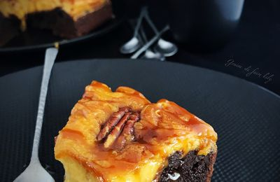 Brownies cheesecake au caramel beurre salé