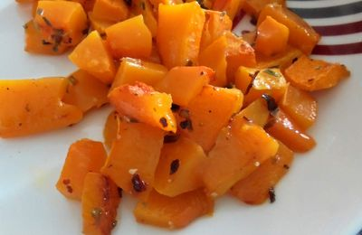 Thanksgiving : Courge butternut au four en mode country