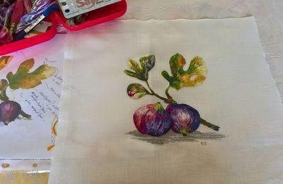 Peinture à l'aiguille réalisée par Michelle