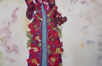 Peinture à l'aiguille réalisée par Martine