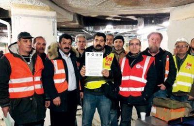 """Grève des ouvriers """"traités comme des esclaves"""" du métro parisien"""