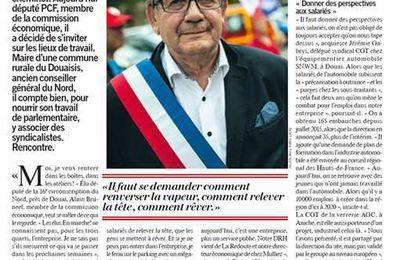 Alain BRUNEEL, député PCF du Nord, prends son bâton de résistant