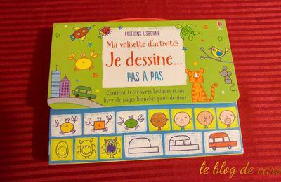 """Ma valisette d'activités """"je dessine pas à pas"""" - Editions Usborne"""