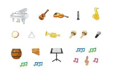Gommettes instruments de musique (1 planche)