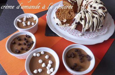 Gâteau au yaourt et petite crème d'amande, à la chicorée