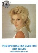 """Kim Wilde Fan Club Magazines"" Flashback !"