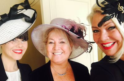 Marty, Joyce, Roxanne et Kim Wilde à Buckingham Palace