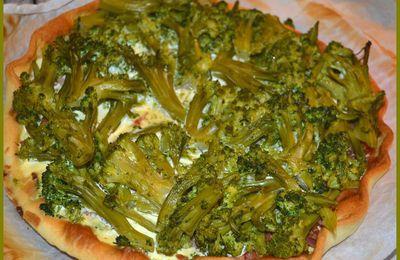 Tarte lardons /brocolis