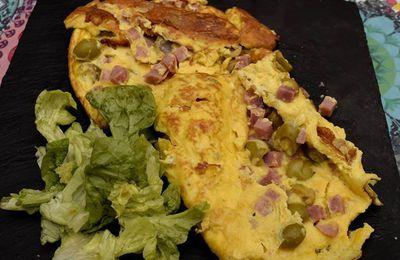 Omelette jambon /olive