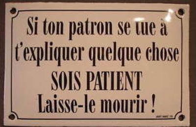 PLUS D'PATRONS !
