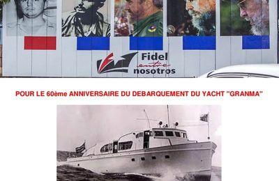 """Il y a 60 ans , le débarquement du Granma"""" à Cuba. Intitiative demain à Malakoff (92)"""