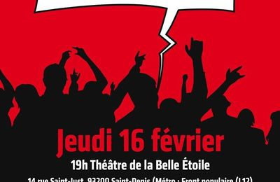 PRÉPARONS LE PREMIER TOUR SOCIAL : Jeudi 16 février 2017 à 19 h. à Saint-Denis (93)