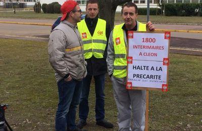Une adresse à François Hollande en visite à l'usine RENAULT Cléon [CGT]