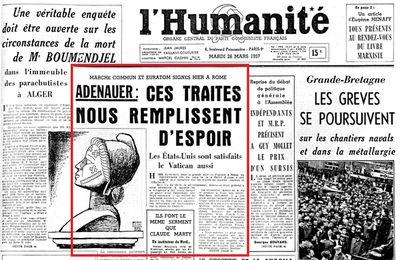 TRAITÉ de ROME 1957 : le débat au parlement à l'époque, dédié à ceux qui courent après L'EUROPE SOCIALE