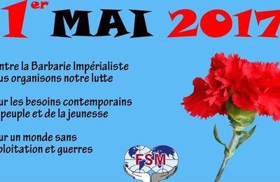 Premier mai 2017 : le communiqué de la Fédération Syndicale Mondiale (FSM)