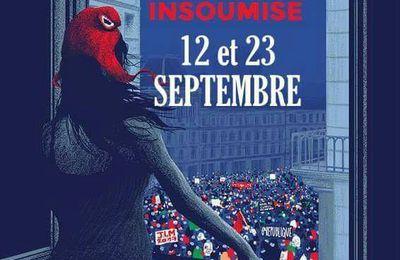 On se MOBILISE le 12 septembre et on MARCHE contre le COUP D'ÉTAT SOCIAL : samedi 23 septembre 2017 - 14 h - Place de la Bastille - PARIS