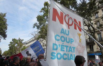 Le 23 septembre à Paris contre le monde de MACRON : « Résistance ! »  [le reportage photo d'El Diablo]