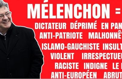 7 mois de BASHING médiatique ANTI-MÉLENCHON