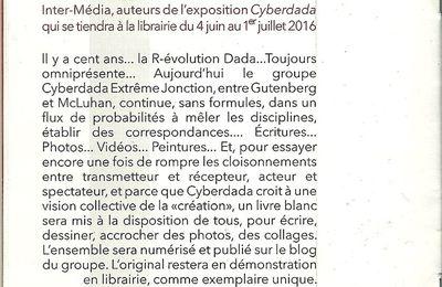 EXPO INTER-MEDIA MULTIVERS CYBERDADA (E.R. Grassi/E.Senatore) LIBRAIRIE L'HERBE ENTRE LES DALLES
