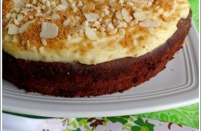 Gâteau à la crème pâtissière (avec poudre de flan chocolat)