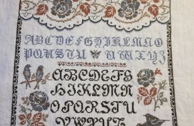 Sampler aux roses (10)