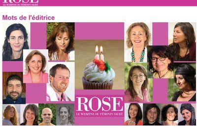 Rose le webzine du féminin sacré - numéro de mars