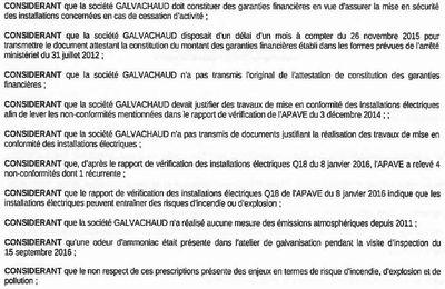 GALVACHAUD Compans une entreprise dangereuse : le préfet doit protéger les 6500 emplois de la ZI de Mitry-Compans et les populations riveraines du site !