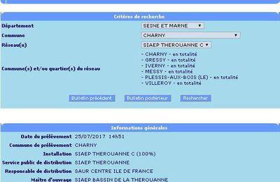 Un pesticide interdit en France depuis 2003 de nouveau retrouvé dans l'eau potable de Charny, Gressy, Messy, Le Plessis aux Bois, Villeroy, Iverny!