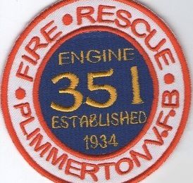 Echange écusson des pompiers de PLIMMERTON, en Australie