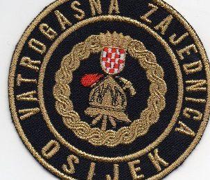Echange l'écusson des pompiers d' OSIJEK, en Croatie