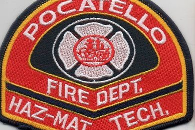 Echange l'écusson des pompiers de POCATELLO, au USA