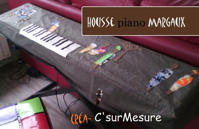 Diy : housse piano Margaux.